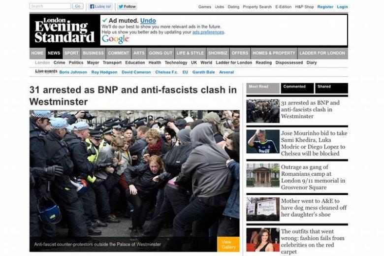 W sobotę w Londynie doszło do starć między antyfaszystami a skrajną prawicą.