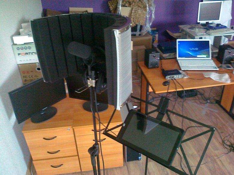 Studio nagraniowe w trakcie instalacji
