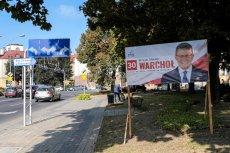 Plakaty i banery Warchoła były widoczne w całym Rzeszowie.