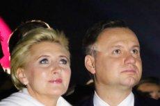 Agata Duda ubrała się szykownie w związku z uroczystościami w Krakowie z okazji 40. rocznicy wybrania Karola Wojtyły na papieża.