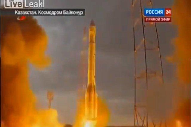Rosyjska rakieta typu Proton-M rozbiła się tuż po starcie z kosmodromu Bajkonur