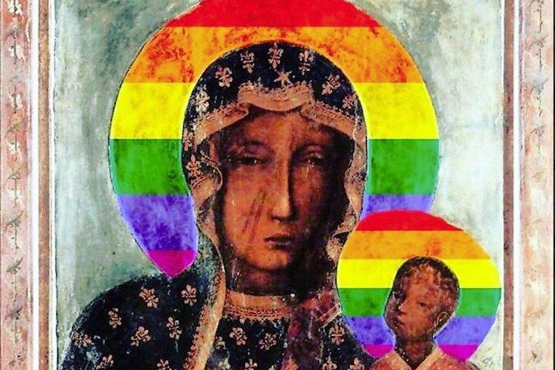 Tęczowa Matka Boska udostępniona przez Joannę Scheuring-Wielgus. Taki wizerunek Maryi nie jest obraźliwy zdaniem sądu.