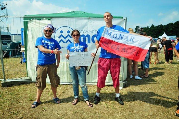 Woodstockowicze popierający Malalę