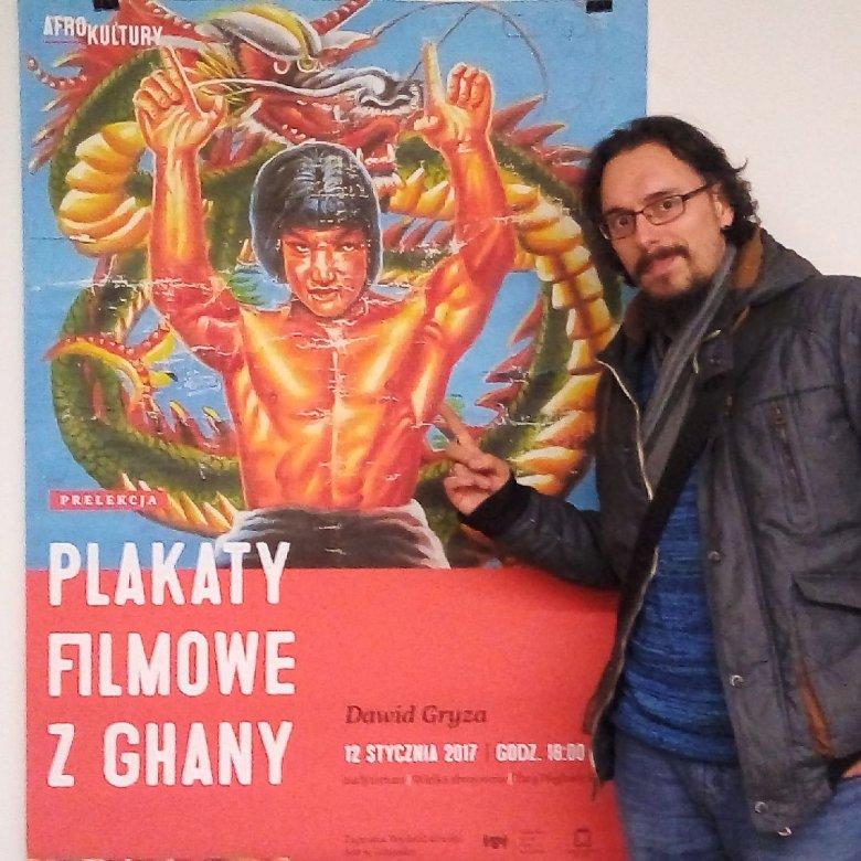 Fan afrykańskich plakatów Dawid Gryza.