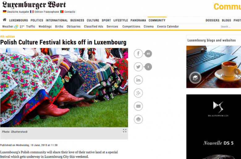 """Luksemburger Wort"" o polskim festiwalu"