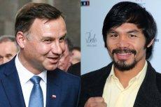 Manny Pacquiao chce poznać osobiście Andrzeja Dudę
