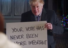 """Boris Johnson wcielił się w postać z """"To właśnie miłość""""."""