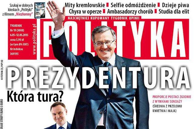 """""""Polityka"""" popiera kandydaturę Bronisława Komorowskiego"""