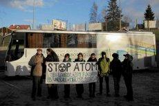 Protest przeciwników atomu w Gdańsku.