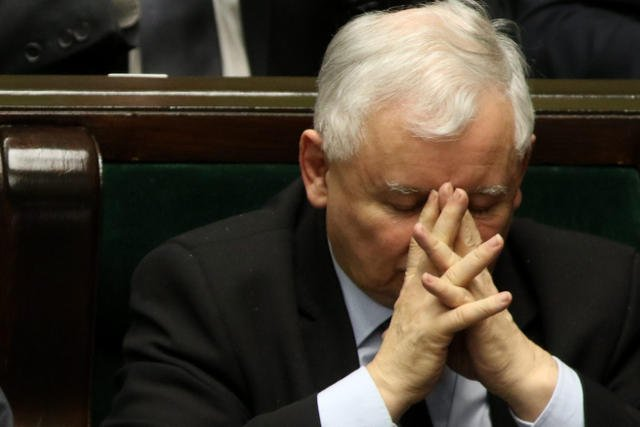 Prezes PiS Jarosław Kaczyński podczas glosowania poprawek  w ustawie Prawo o prokuraturze.