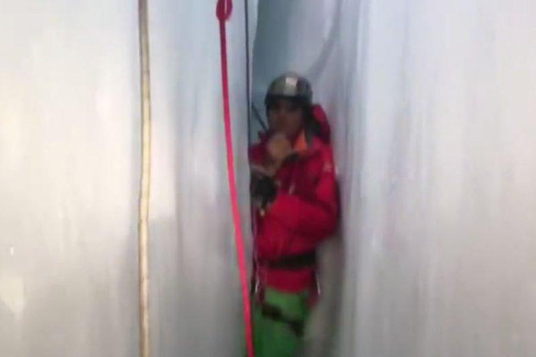 Ciało polskiego alpinisty znaleziono w rejonie masywu Breithorn. Mógł tam zejść tylko jeden ratownik.