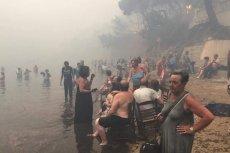 Co najmniej 50 ofiar śmiertelnych – to aktualny bilans pożarów w Grecji. Setki osób utknęły na plażach, czekając na pomoc.