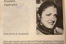 Tego Krystyna Pawłowicz z historii nie wymaże.