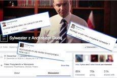 Facebookowicze mają już plany na Sylwestra. Idą na imprezę z Andrzejem Dudą, Kevinem i Juliuszem Słowackim. Dokładnie tak!