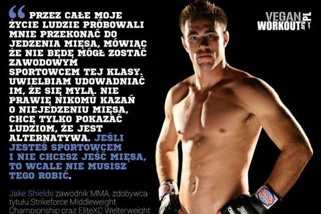 Jake Shields to sportowiec - wegetarianin. Nie je mięsa, a mimo to wciąż wygrywa walki MMA.