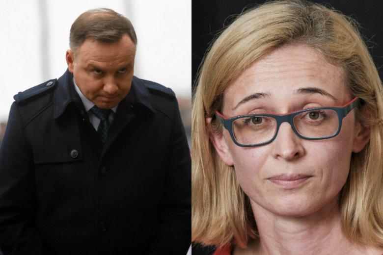 Dziennikarka Polskiego Radia Grażyna Bochenek została odsunięta od prowadzenia programów na żywo po tym, jak słuchacz w jej programie nazwał Andrzeja Dudę figurantem.