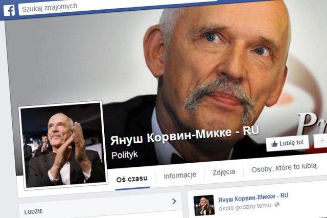 Janusz Korwin-Mikke uruchomił rosyjską wersję swojej strony na Facebooku.