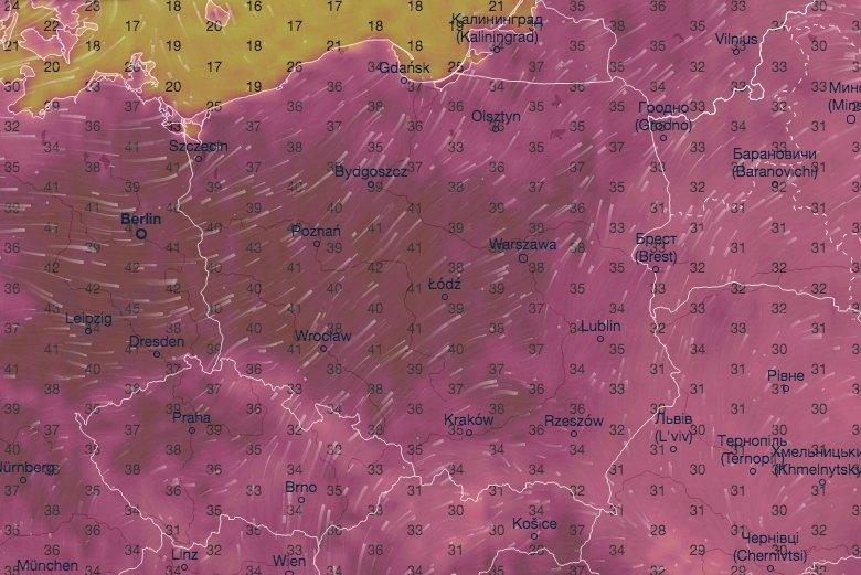 Afrykańskie upały wracajądo Polski, ale widać już ochłodzenie.