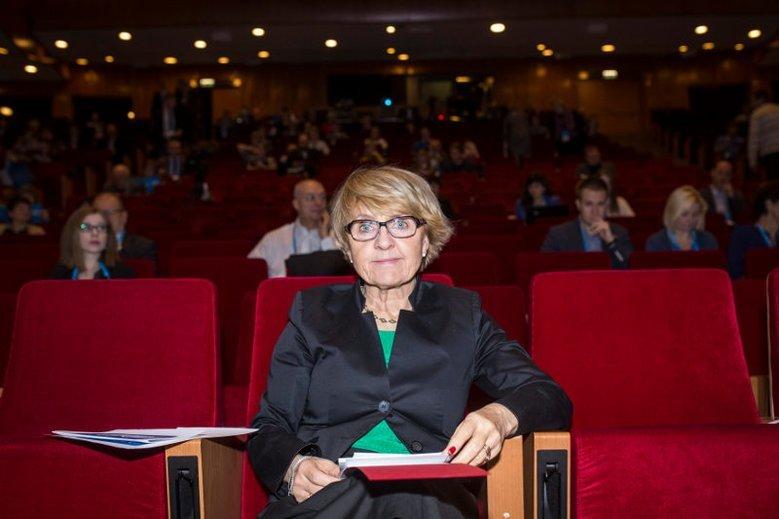 Prof. Danuta Huebner, europosłanka EPL.