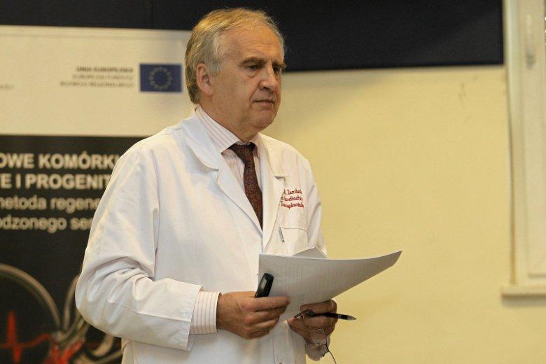 Prof. Marian Zembala nie ma doświadczenia politycznego