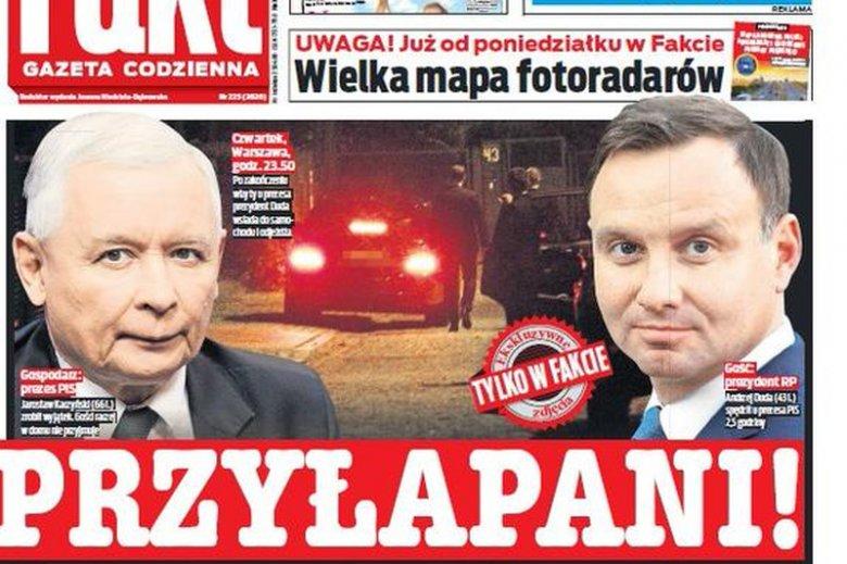 """Tabloid """"Fakt"""" ujawnia nocne rozmowy prezesa PiS z prezydentem Dudą"""