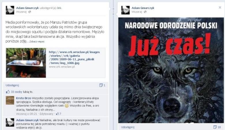 Przywódca NOP dziękuje za atak na wrocławski skłot