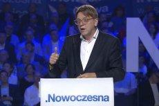 Szef frakcji liberałów w Parlamencie Europejskim, Guy Verhofstadt, podczas konwencji Nowoczesnej.