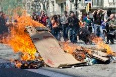 Strajk na ulicach Barcelony