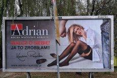 "Karolina Piasecka w reklamie rajstop ""Adrian""."