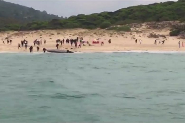 W ciągu jednej doby do brzegów Hiszpanii przybyło około 120 imigratnów z Afryki.