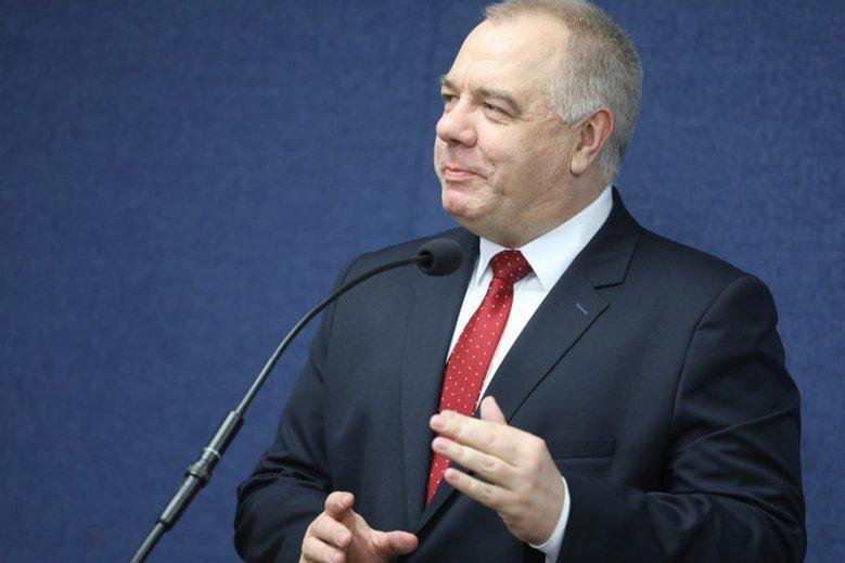 Jacek Sasin skomentował domniemane posiadanie przez CBA systemu Pegasus.