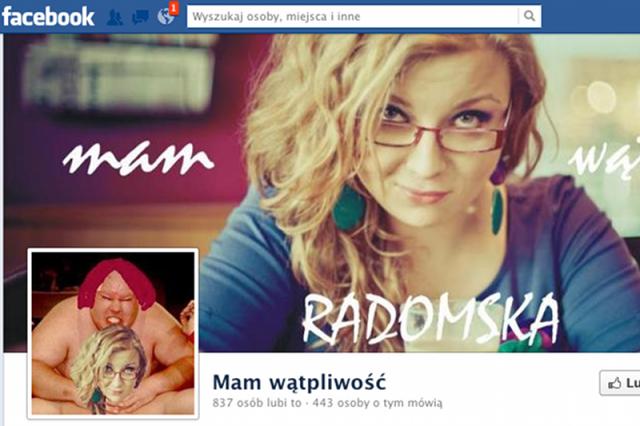 """Facebook przypadkowo usunął fanpage Aleksandy Radomskiej, która prowadzi bloga """"Mam wątpliwość""""."""