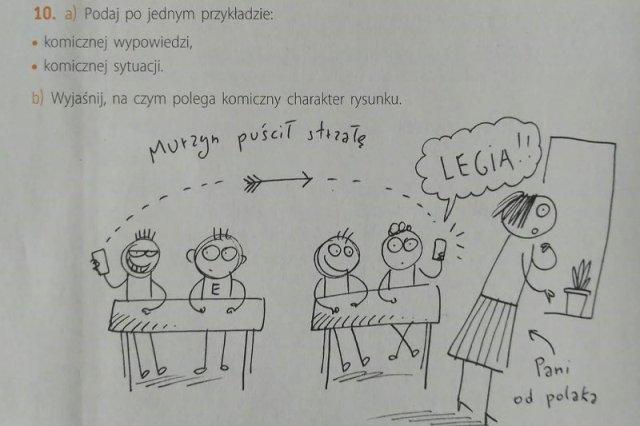"""Ten """"satyryczny"""" rysunek z """"Murzynem puszczającym strzałę"""" z podręcznika dla klasy V szkoły podstawowej wywołał niemałe zamieszanie."""