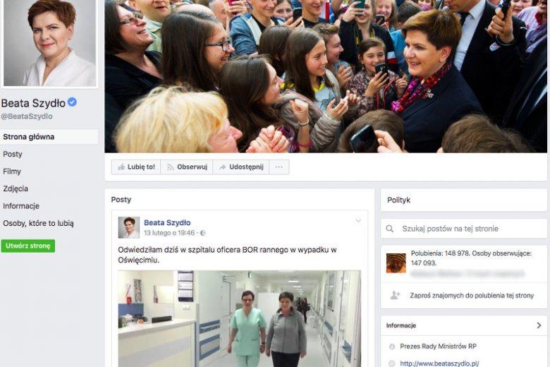 Internauci mają bardzo wiele pytań do premier Beaty Szydło. Zadają je na jej profilu FB.