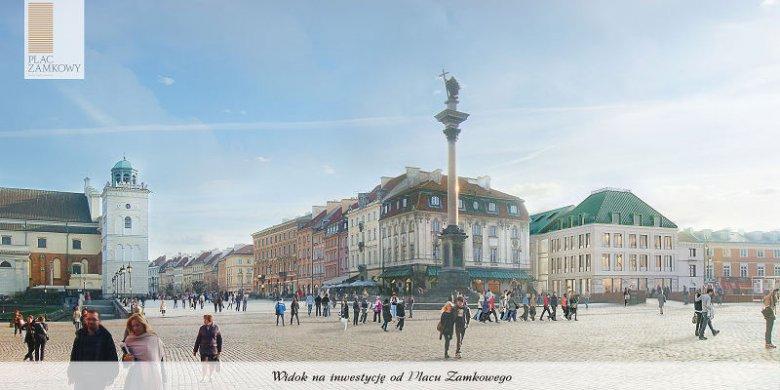 Wizualizacja biurowca przy ul Podwale.