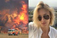Anja Rubik skomentowała klęskę żywiołową w Australii.