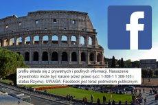 Łańcuszek z 2019 roku odnosi się do... statusu Rzymu