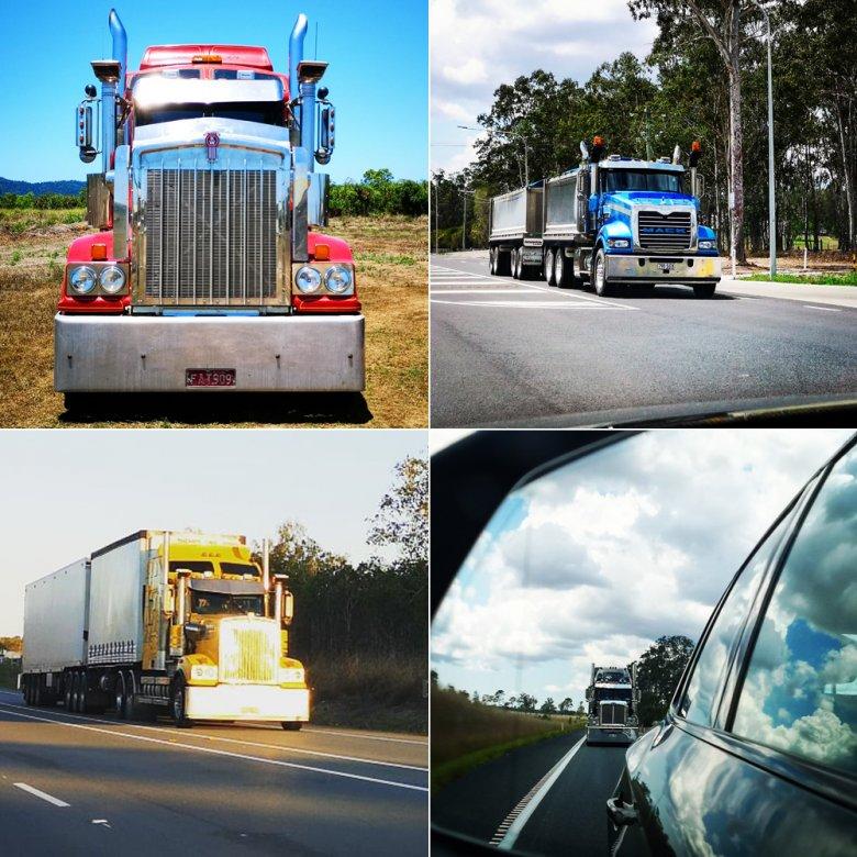 Ciężarówki w Australii są potężne. Jechanie z takim kolosem na ogonie nie jest komfortowe.