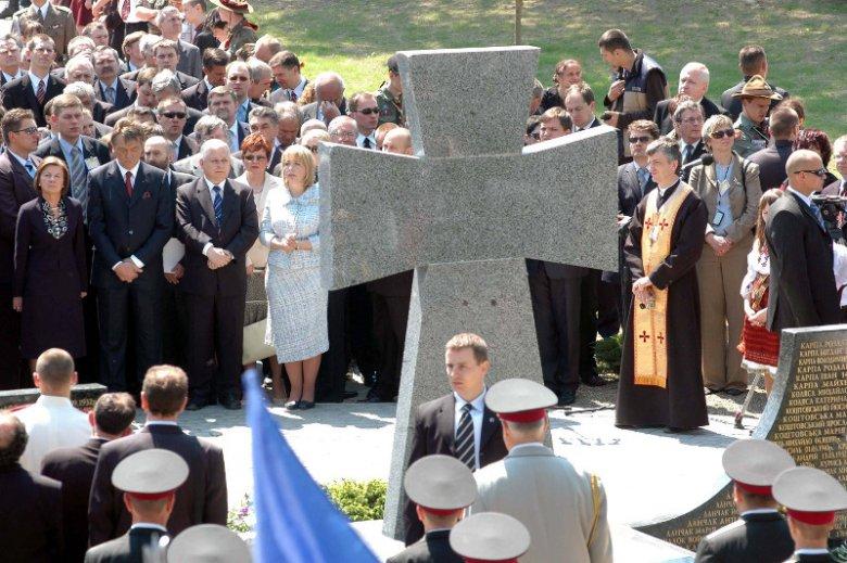 Prezydenci Polski i Ukrainy w Pawlokomie, 2006 r.