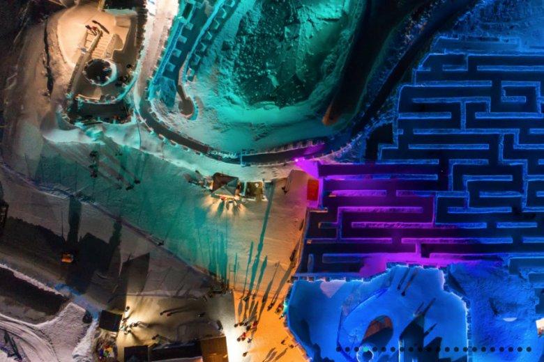 Śnieżny Labirynt w Zakopanem to największa taka budowla na świecie. Rozpościera się na 2,5 tys. metrów kwadratowych.