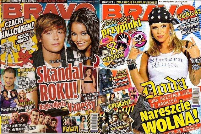 Bravo było kiedyś takim internetem dla fanów.