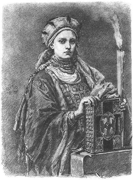Dobrawa, żona Mieszka I. Poczet Jana Matejki.