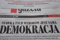 """""""Gazeta Wyborcza"""" bez komentarza przypomina swój artykuł sprzed roku, w którym przestrzegała przed zwycięstwem PiS"""