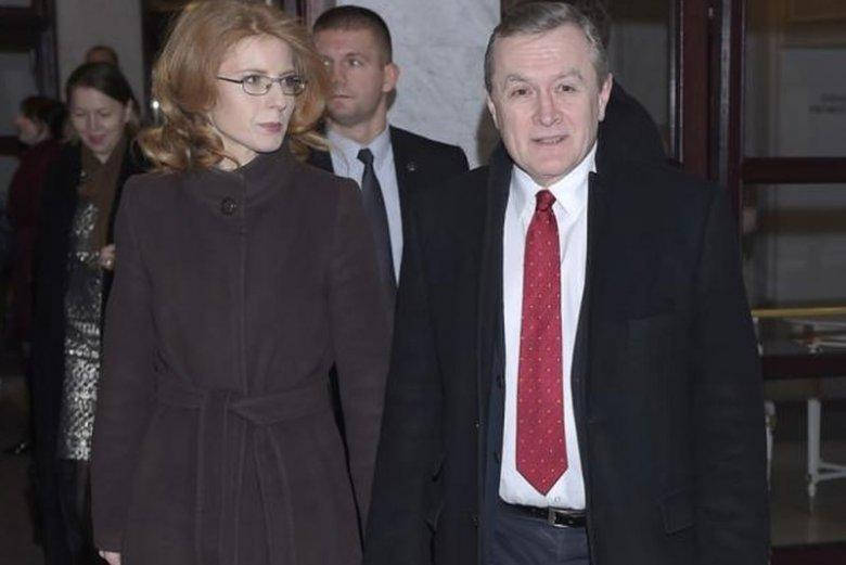 Minister Gliński i jego żona – on też kiedyś był zaangażowany w organizacje pozarządowe.