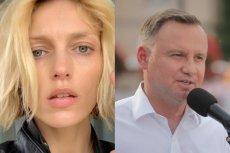 Modelka i aktywistka Anja Rubik oraz kandydat PiS na prezydenta Andrzej Duda. Działaczka upomniała się o prawa dzieci i młodzieży LGBT.