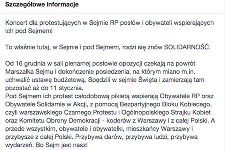 Organizatorzy zachęcają do przybycia warszawiaków, ale i osoby z całej Polski