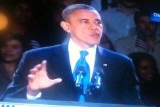 Barack Obama w trakcie swojego niesamowitego przemówienia.