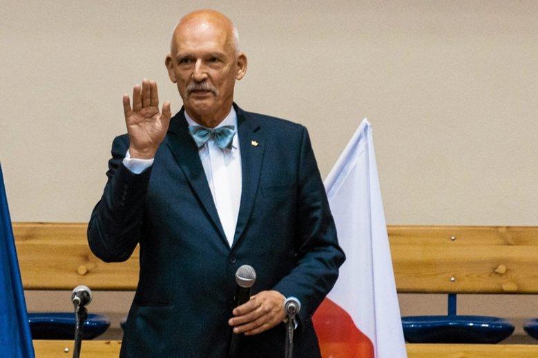 Janusz Korwin-Mikke chce kandydować na prezydenta Warszawy i ma pomysł na lokalizację pomnika ofiar katastrofy smoleńskiej.