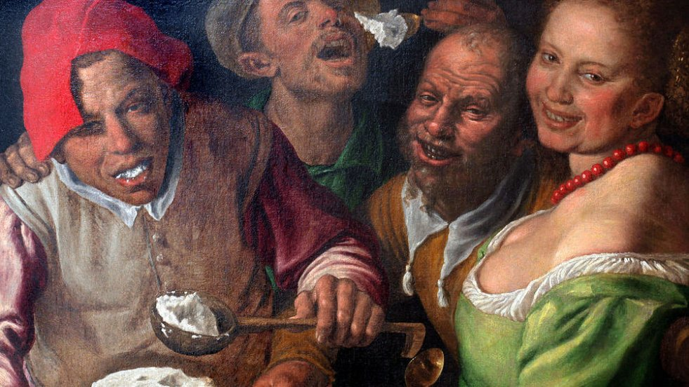 """The ricotta eaters"",  Vincenzo Campi, 1580"