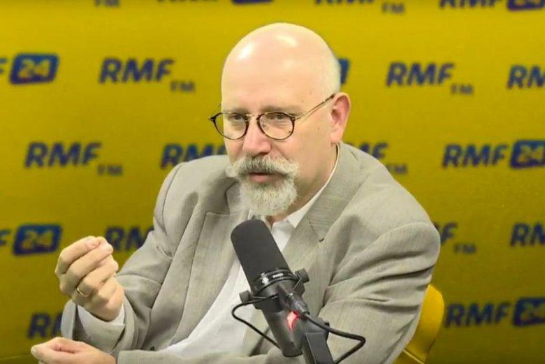 Pytania prowadzącego zezłościły Macieja Świrskiego.